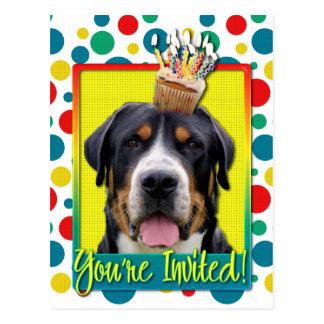 Invitation Cupcake - Greater Swiss Mountain Dog Postcard