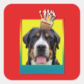 Invitation Cupcake - Greater Swiss Mountain Dog Square Sticker