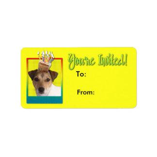 Invitation Cupcake - Jack Russell Address Label