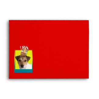Invitation Cupcake - Jack Russell Envelope
