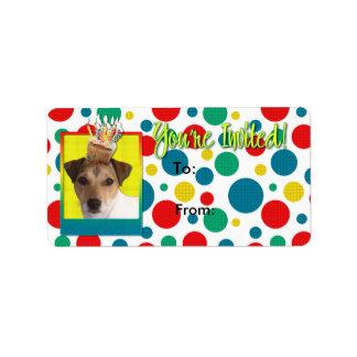 Invitation Cupcake - Jack Russell Personalized Address Label