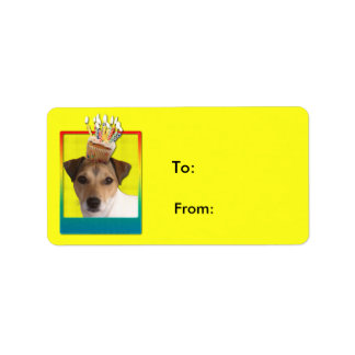 Invitation Cupcake - Jack Russell Personalized Address Labels
