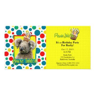 Invitation Cupcake - Koala Personalized Photo Card