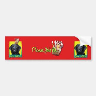 Invitation Cupcake - Labrador - Black - Gage Bumper Sticker