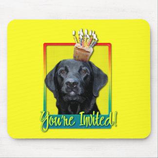 Invitation Cupcake - Labrador - Black - Gage Mouse Pad