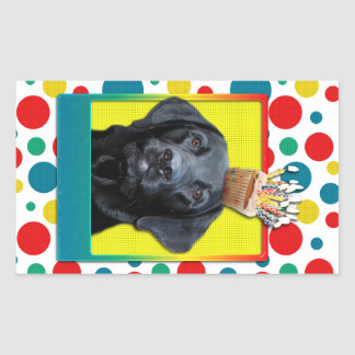 Invitation Cupcake - Labrador - Black - Gage Rectangular Sticker