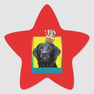 Invitation Cupcake - Labrador - Black - Gage Star Sticker