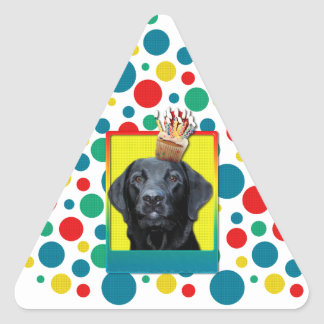 Invitation Cupcake - Labrador - Black - Gage Triangle Sticker
