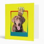 Invitation Cupcake - Labrador - Chocolate 3 Ring Binder