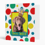 Invitation Cupcake - Labrador - Chocolate 3 Ring Binders