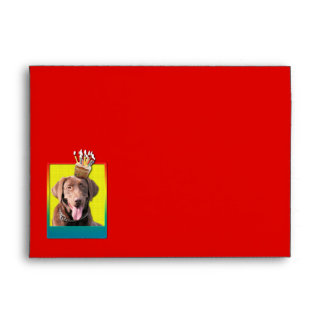 Invitation Cupcake - Labrador - Chocolate Envelope