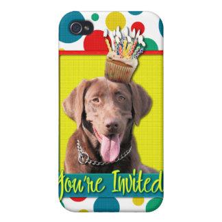 Invitation Cupcake - Labrador - Chocolate iPhone 4 Cover