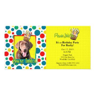 Invitation Cupcake - Labrador - Chocolate Photo Card