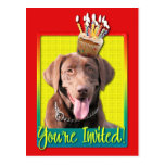 Invitation Cupcake - Labrador - Chocolate Postcards