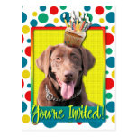 Invitation Cupcake - Labrador - Chocolate Post Card