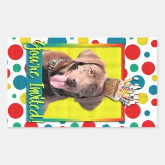 Invitation Cupcake - Labrador - Chocolate Rectangular Sticker