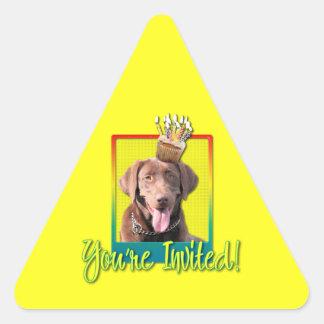 Invitation Cupcake - Labrador - Chocolate Triangle Stickers