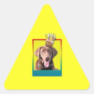 Invitation Cupcake - Labrador - Chocolate Sticker