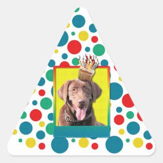 Invitation Cupcake - Labrador - Chocolate Stickers