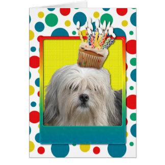 Invitation Cupcake - Lowchen Card