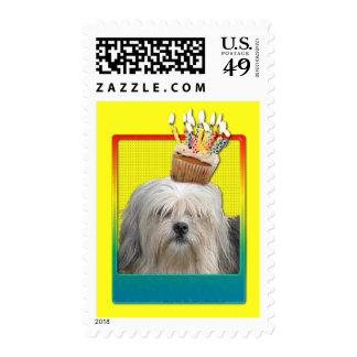 Invitation Cupcake - Lowchen Postage Stamp