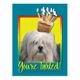 Invitation Cupcake - Lowchen Postcards