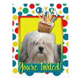 Invitation Cupcake - Lowchen Postcard