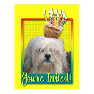 Invitation Cupcake - Lowchen Post Cards