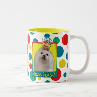 Invitation Cupcake - Maltese Two-Tone Coffee Mug