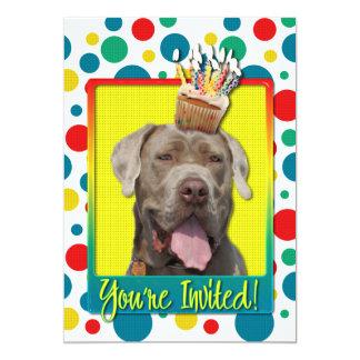 "Invitation Cupcake - Mastiff - Snoop 5"" X 7"" Invitation Card"