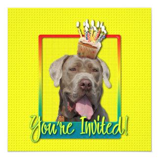 "Invitation Cupcake - Mastiff - Snoop 5.25"" Square Invitation Card"