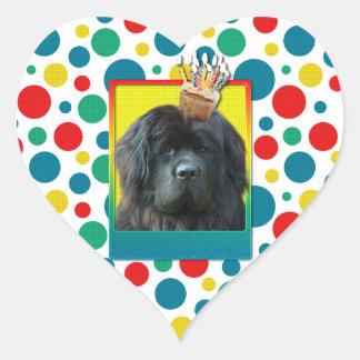 Invitation Cupcake - Newfoundland Heart Sticker
