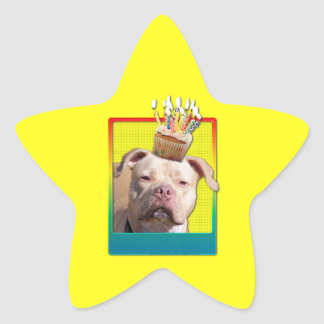 Invitation Cupcake - Pitbull - Jersey Girl Star Sticker