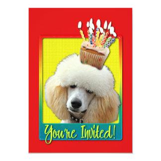 Invitation Cupcake - Poodle - Apricot