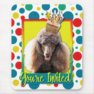 Invitation Cupcake - Poodle - Chocolate Mouse Pad
