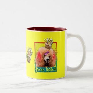 Invitation Cupcake - Poodle - Red Two-Tone Coffee Mug