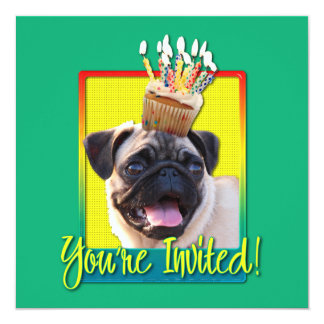 Invitation Cupcake - Pug