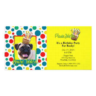 Invitation Cupcake - Pug Customized Photo Card