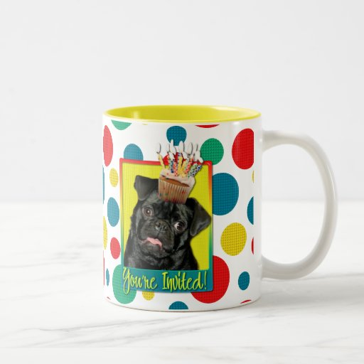 Invitation Cupcake - Pug - Ruffy Mugs