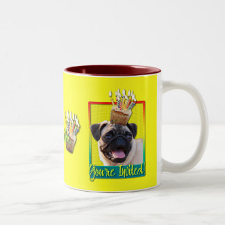 Invitation Cupcake - Pug Two-Tone Coffee Mug