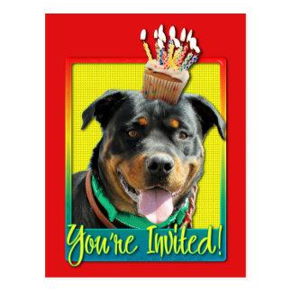Invitation Cupcake - Rottweiler - SambaParTi Postcard