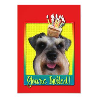 """Invitation Cupcake - Schnauzer 5"""" X 7"""" Invitation Card"""