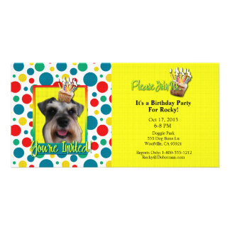Invitation Cupcake - Schnauzer Photo Cards