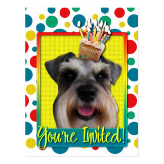 Invitation Cupcake - Schnauzer Postcard