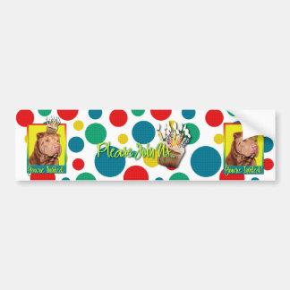 Invitation Cupcake - Shar Pei - Lucky Car Bumper Sticker