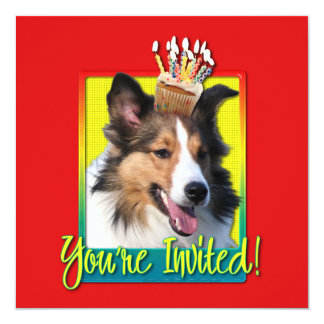 Invitation Cupcake - Sheltie