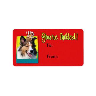 Invitation Cupcake - Sheltie Label