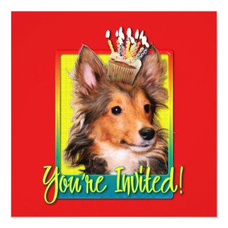Invitation Cupcake - Sheltie Puppy - Cooper