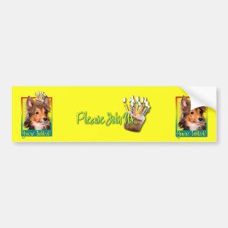 Invitation Cupcake - Sheltie Puppy - Cooper Bumper Sticker