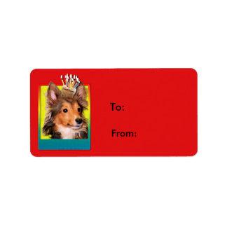 Invitation Cupcake - Sheltie Puppy - Cooper Label